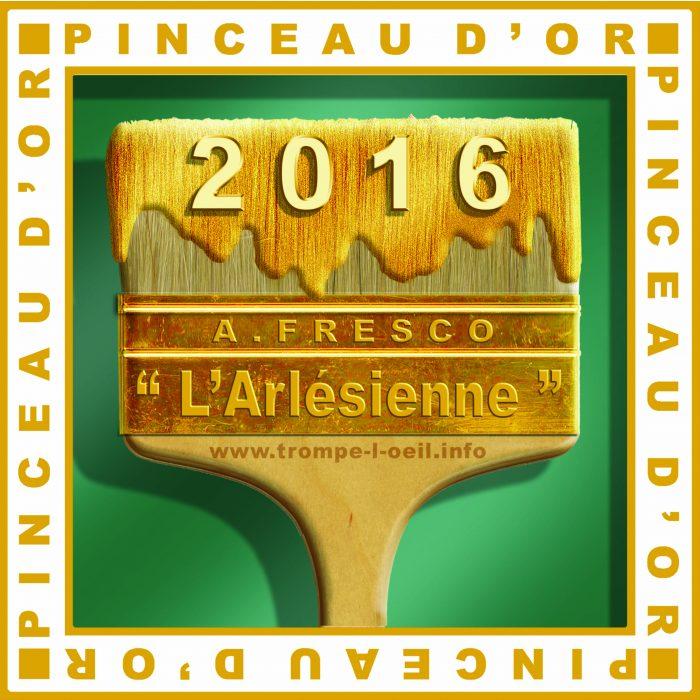 Pinceau d'Or 2016 : Fresque «L'Arlésienne» de Béziers